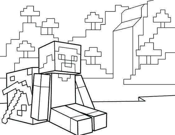 Lego city kids: Desenhos do minecraft para colorir