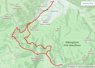 mapa trasy wycieczki