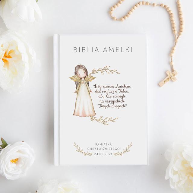 Pamiątka Chrztu Świętego dla dziecka Biblia