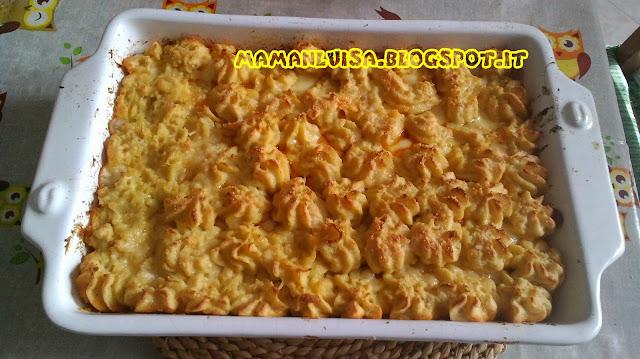 torta di patate e salsiccia