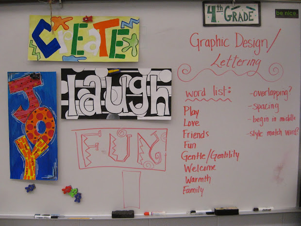 Jamestown Elementary Art Reporting. 4th Grade Graphic Design Lettering