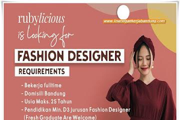 Lowongan Kerja Bandung Fashion Designer Rubylicious