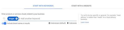 Cara Meriset kata kunci di Google keyword Planner