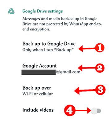 Google Drive Whatsapp Chat Backup