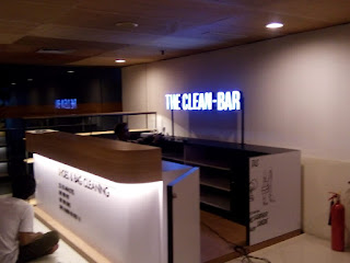 channel letter acrylic the clean bar