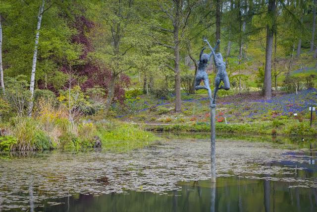 Himalayan Garden and Sculpture Park dancers in lake sculpture