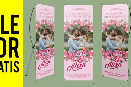 Download Gratis X Banner Wedding Format CorelDraw