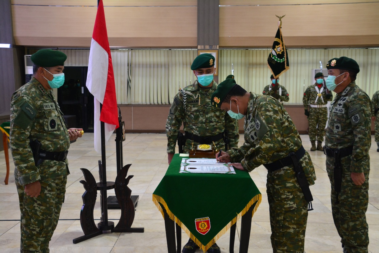 Mayor Jenderal TNI Ilyas Alamsyah Resmi Jabat Irkostrad