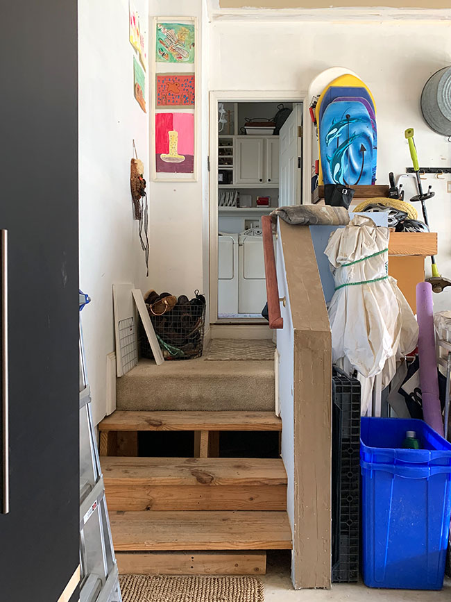 garage organization - mudroom