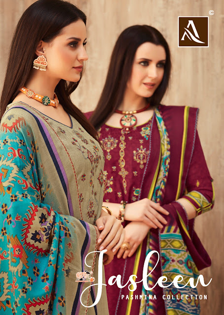 Alok Suits Jasleen Pashmina Collection At Diwan Fashion