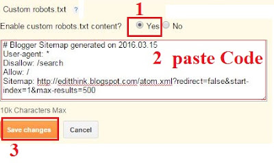 Use Robots Txt In Blog And Improve Traffic editthink blogspot
