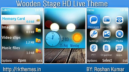 Wooden Stage Live HD Theme For Nokia x2-00,x2-02,x2-05,x3-00,c2-01