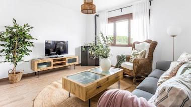 La decoración de una casa rústica moderna