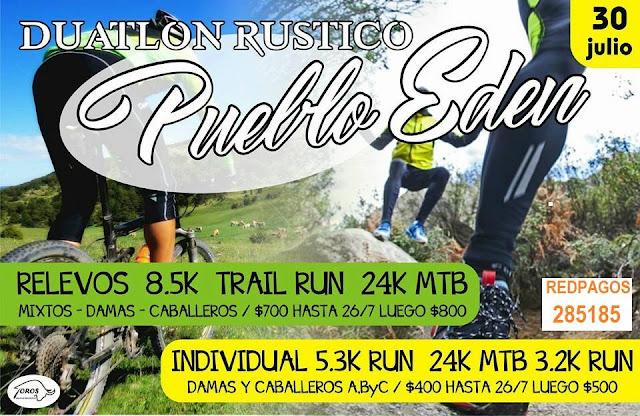 Duatlón rústico en Pueblo Edén (Maldonado, 30/jul/2017)