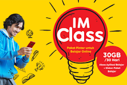 Cara Membeli Paket Pintar IMClass 30GB Hanya Rp 5.000