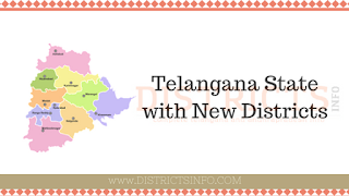 Telangana State with New Districts
