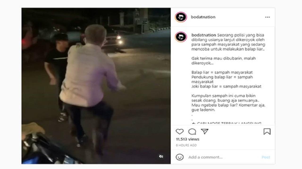Video Viral Polisi Dikeroyok Warga Saat Bubarkan Balap Liar, Polisi: Sebagian Pelaku Sudah Ditangkap