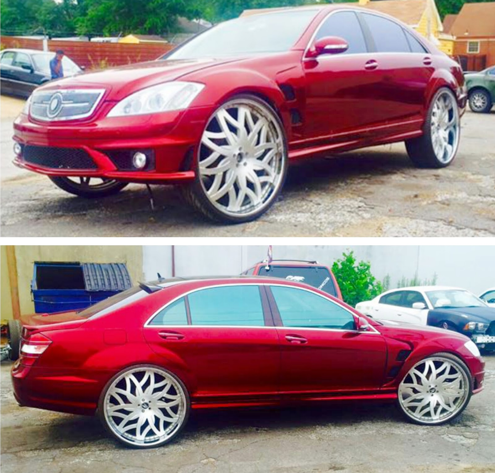 Ace-1: Memphis Candy Brandywine Mercedes-Benz S550 On 28
