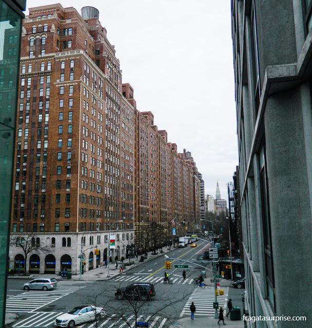 A Rua 23, em Nova York, vista do parque High Line