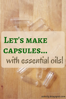 how to make capsules with essential oils diy | Hot Pink Crunch