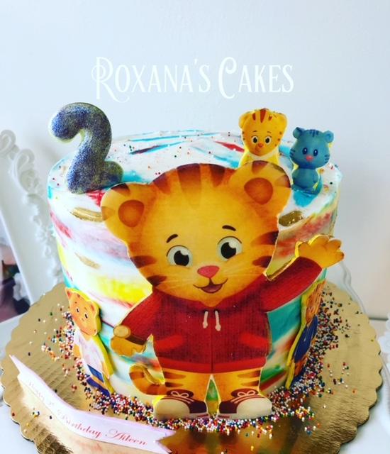 Amazing Baking With Roxanas Cakes Daniel Tiger Birthday Cake Funny Birthday Cards Online Elaedamsfinfo