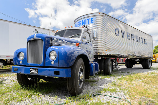 1960 Mack B model cab and a 1947 stainless Fruehauf steel trailer