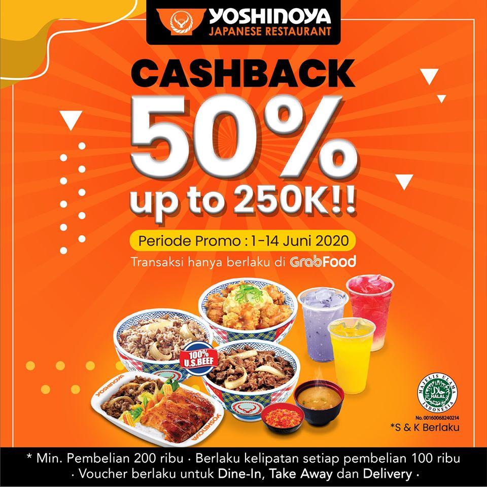 Promo Voucher Yoshinoya Cashback 50% Maximaimal 250RB!