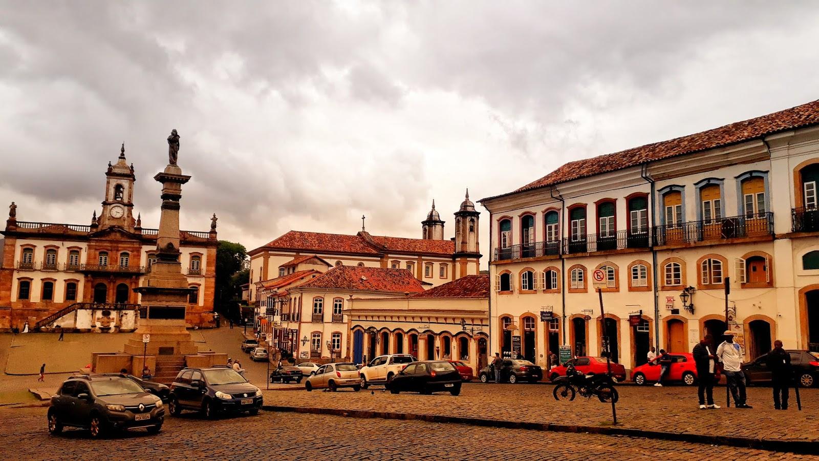 Centro histórico de Ouro Preto - Praça Tiradentes