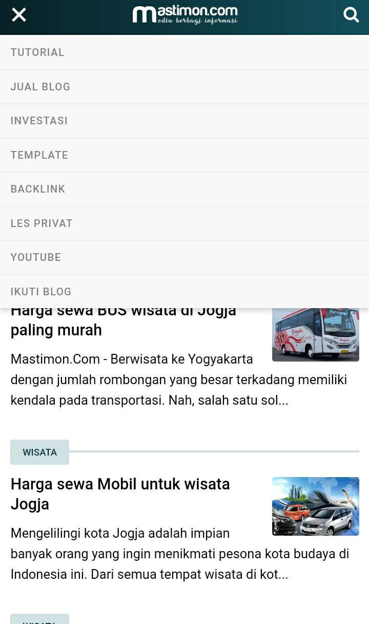 Template Blog Mastimon
