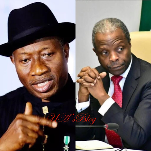 Corruption allegations: Goodluck Jonathan attacks Osinbajo, says VP has 'leprous' fingers