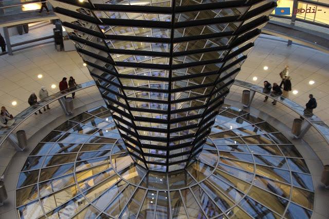 Interior de la cúpula del Reichstag, Berlín
