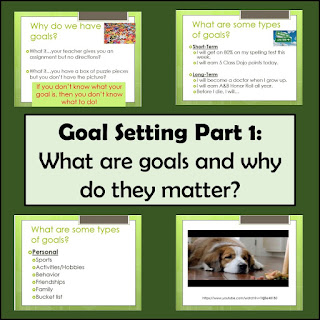 4th grade Goal setting lesson plan, Part 1 of 3