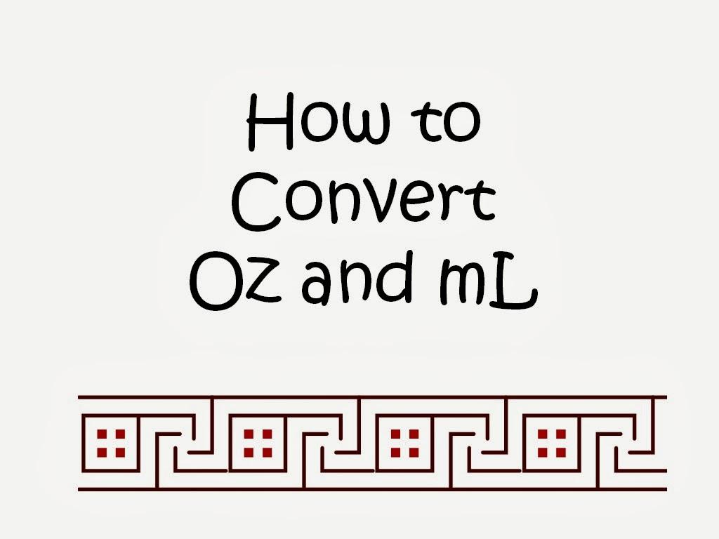 Convert Milliliters