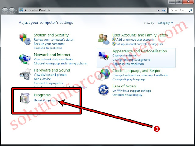 How to uninstall programs in windows 7
