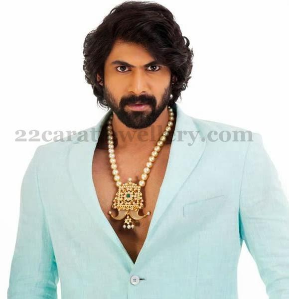 Rana Daggubati Pearls Haram Jewellery Designs