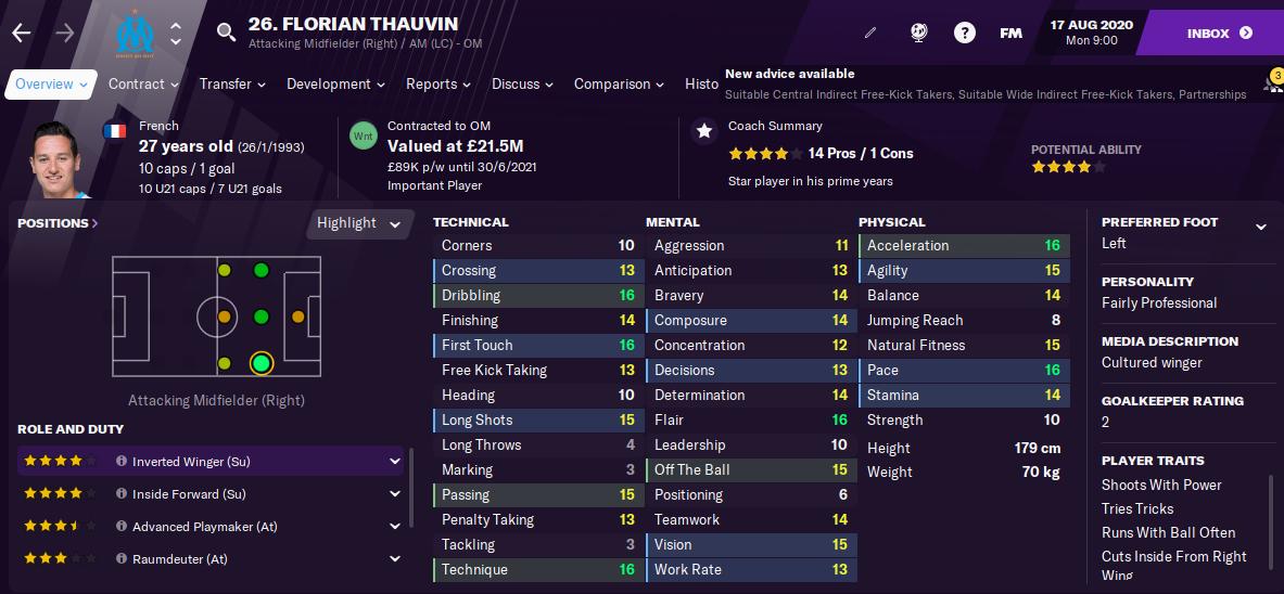 FM21 Florian Thauvin