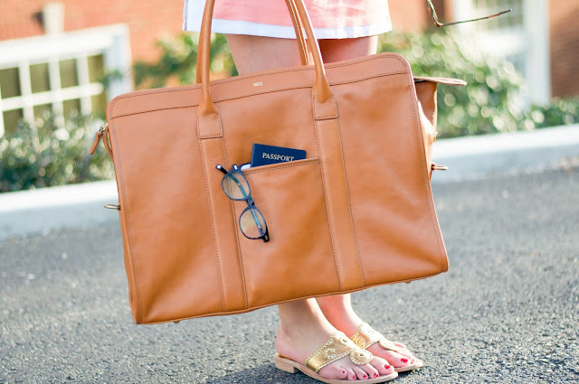 mark and graham leather weekender and jack rogers sandals