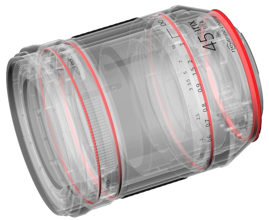 Уплотнители в объективе Irix 45mm f/1.4