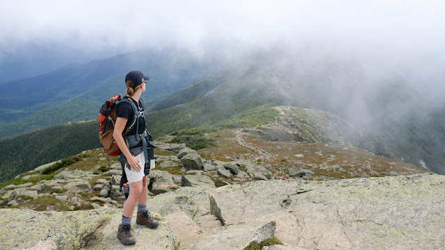 misty view along Franconia Ridge