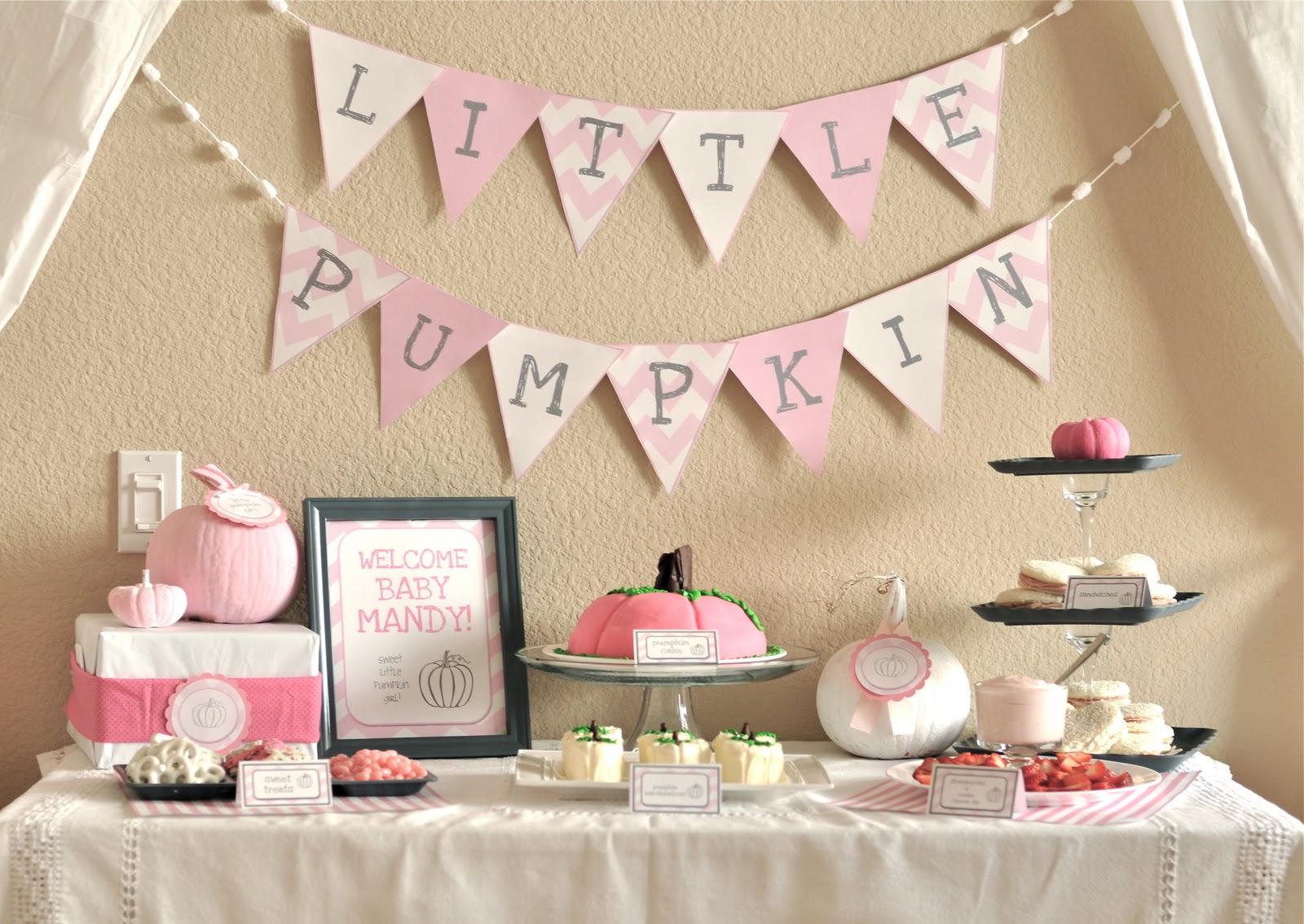 Little Girl Pumpkin Baby Shower - Party Ideas