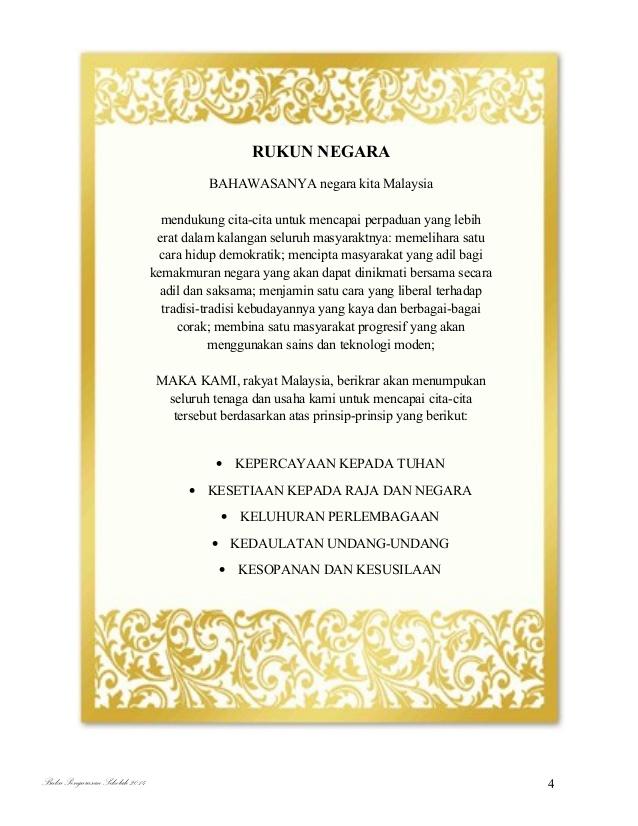 Principle Of Rukun Negara Malaysia