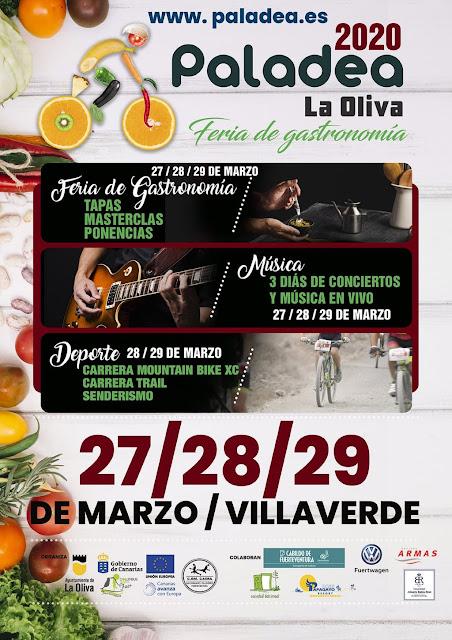 Paladea%2BLa%2BOliva%2Bcartel%2B2020 - Fuerteventura.- Vuelve Paladea La Oliva del 27 al 29 de marzo, con pruebas de mountain bike, trail y senderismo alrededor de espectacular feria gastronómica
