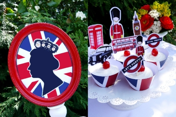 A British Inspired London UK Party with Printables - BirdsParty.com