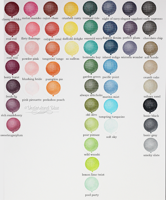 2017-2018 Stampin' Up! Ink Chart by UnderstandBlue