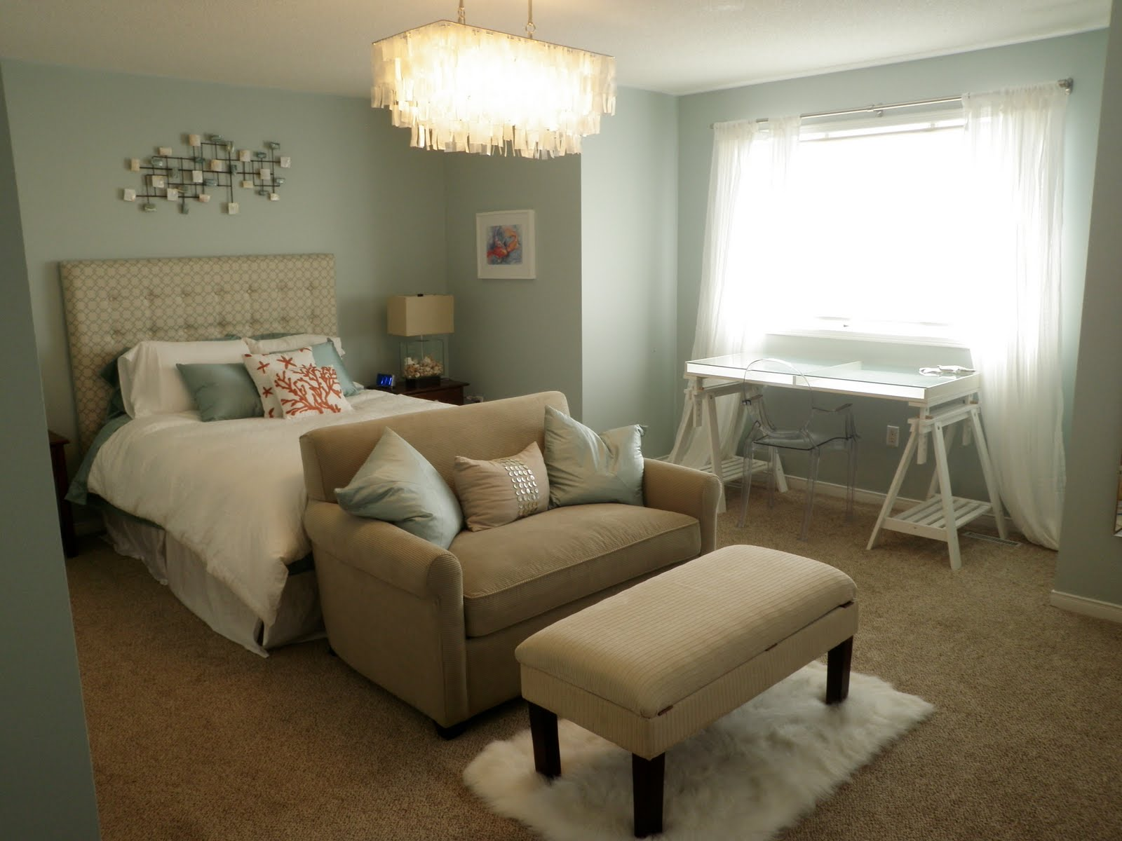 remarkable wedgewood gray bedroom | Beachnut Lane: Benjamin Moore's Wedgewood Gray & Woodlawn Blue