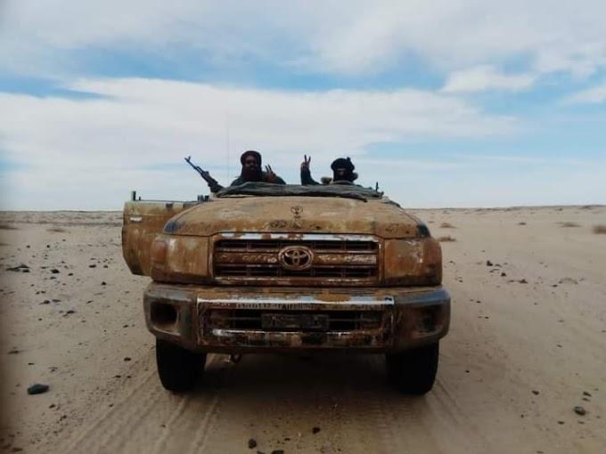 Unidad esepcial del ejército saharaui intercepta un cargamento de droga procedente del muro marroquí