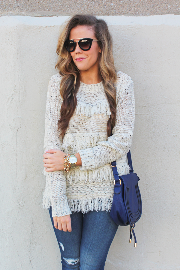 Fringe Sweater [Wren + Ivory] - A Mix of Min