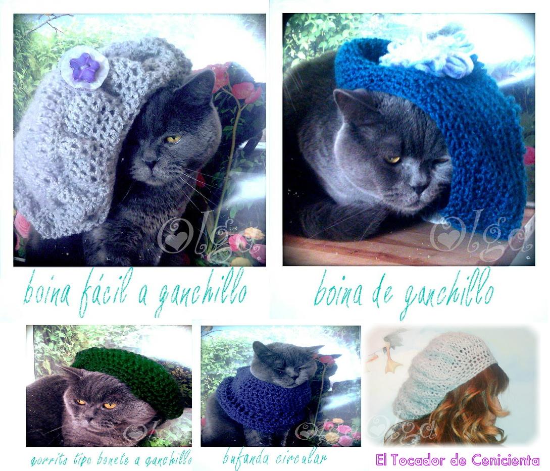 Gorros de Crochet. Tocador de Cenicienta