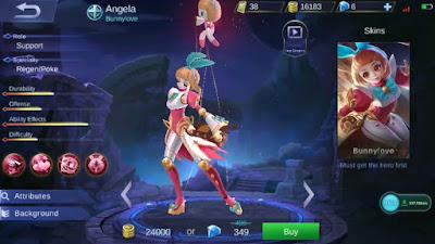 Build Item Angela Mobile Legends