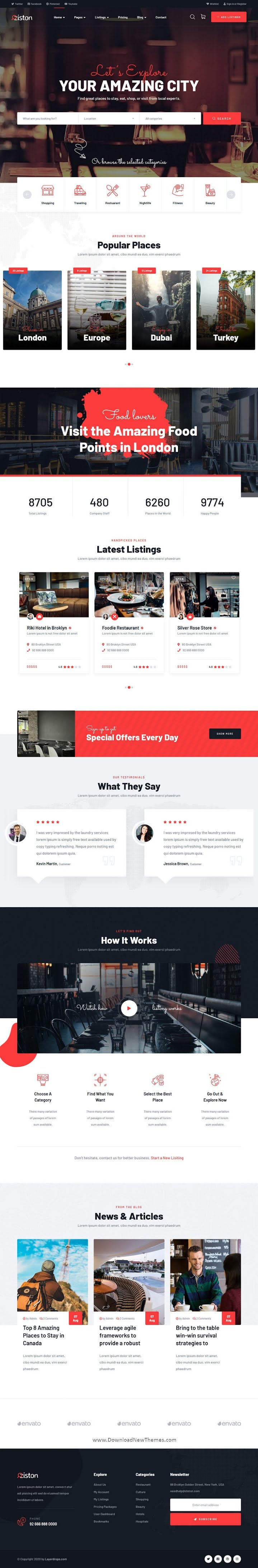 Directory & Listings HTML Template